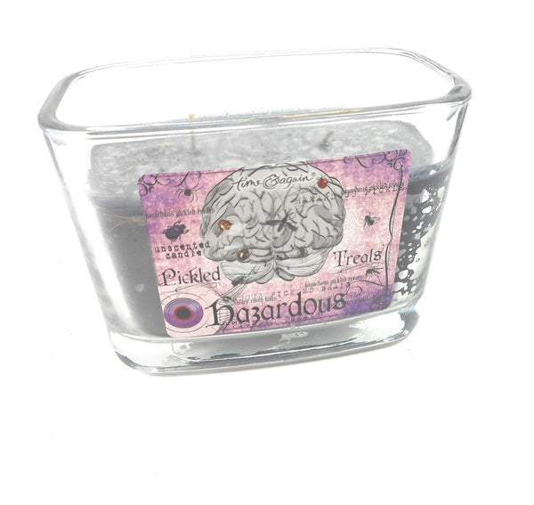 Poisonous Health Hazard Purple Brain Halloween Spooky Candle by Ganz 32 hours burn time