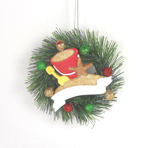 Beach Sand Pail and Wreath Ornament by Midwest-CBK 100633
