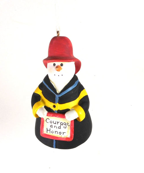 Sandra Gore Evans - Firefighter Ornament  by Midwest-CBK