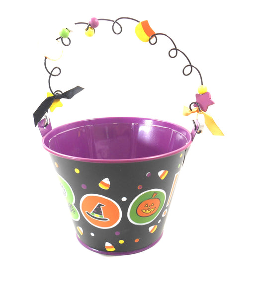 Burton and Burton Boo Halloween Plant Bucket Pot Cover Tin