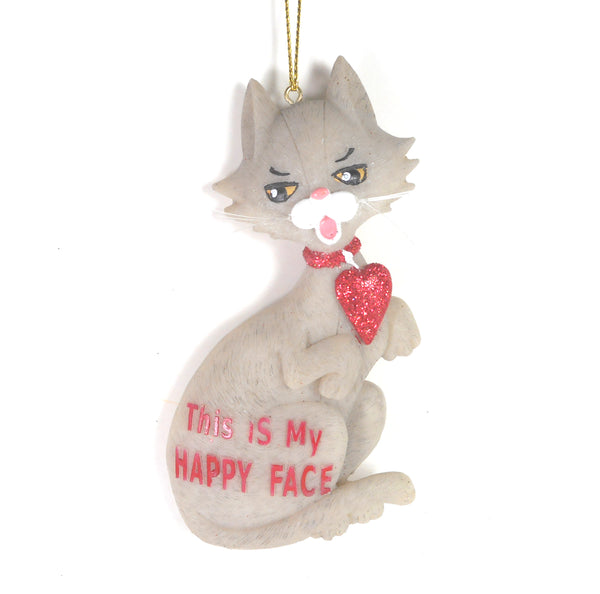 This is my Happy Face Cat Ornament by Kurt Adler
