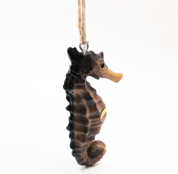 Midwest-CBK  Brown Seahorse Resin Ornament