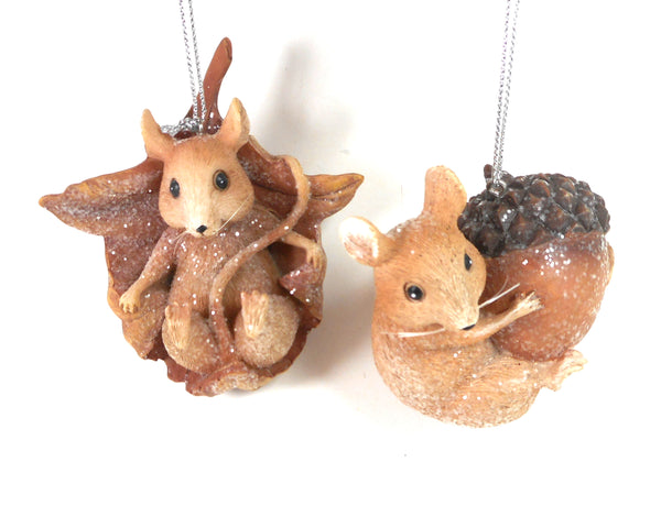Winters Glen Playful Mice Ornaments Set of 2 By  Kurt Adler