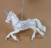 White and Silver Unicorn Ornament by Kurt Adler c6767