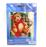 "Janlynn 023-0264 Mr. Ted E. Bear by Nancy Rossi. Needlepoint. 5"" x 5"" (12,7 x 12,7 cm)."