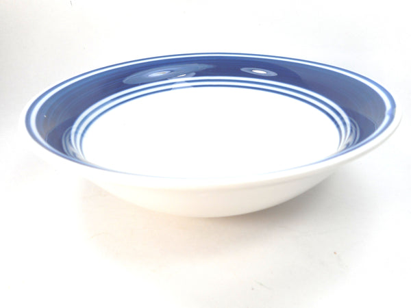 Casual Banded Cobalt Blue by Mainstays Stoneware Soup Cereal Bowl