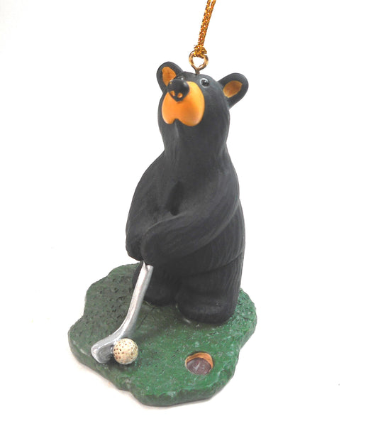 Bearfoots Jeff Fleming Golfing Bear Christmas Ornament Golf Golfer