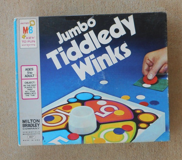 Vintage 1974 Milton Bradley Jumbo Tiddledy Winks Board Game USA Made