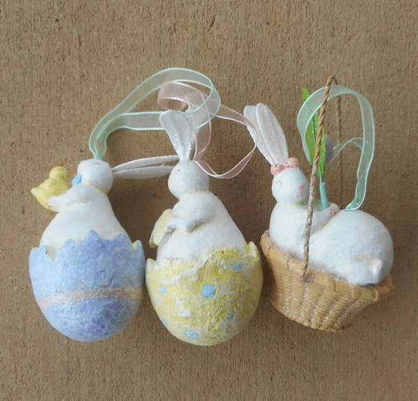 Pastel Easter Bunny Spring Ornaments