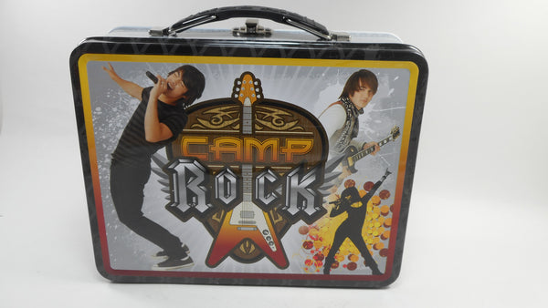 The Jonas Brothers Camp Rock Black Tin Tote Lunch Box