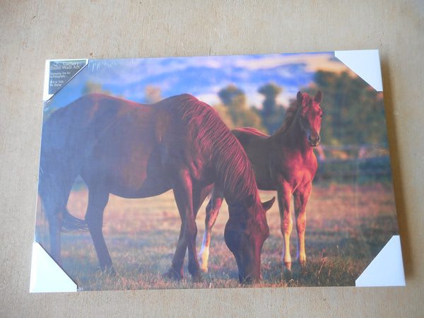"Denver Bryan Print Horses Frameless Art  16"" by 24"" Wall Art by BIG SKY CARVERS"