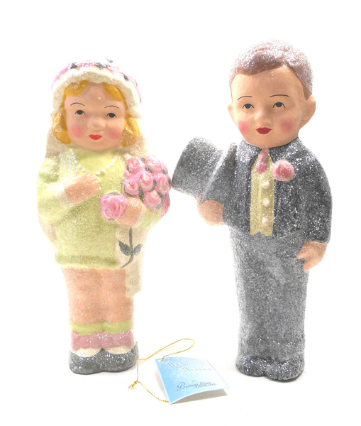 Teena Flanner Wedding Couple by Bethany Lowe Wedding Cake Topper 9 1/2 inches high