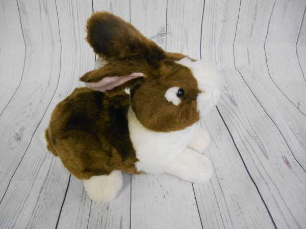 Ganz Dutch Brown and White Bunny Rabbit Plush 10 1/2 inches long