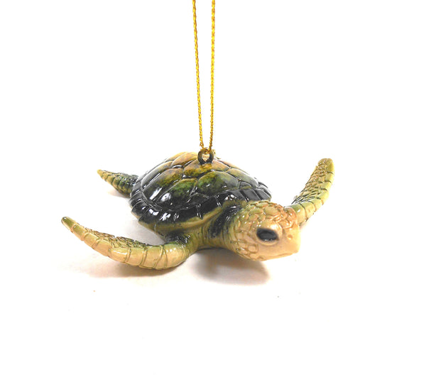 Baby Green Sea Turtle Ornament in Resin by Cape Shore