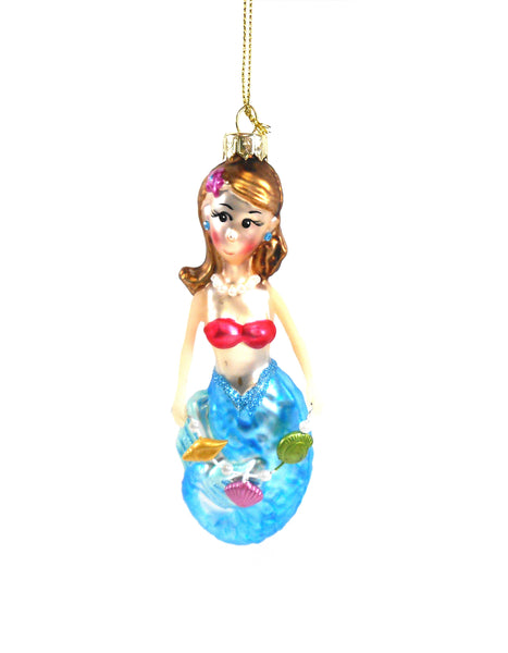 Gallarie II Frosted Mermaid Ornament