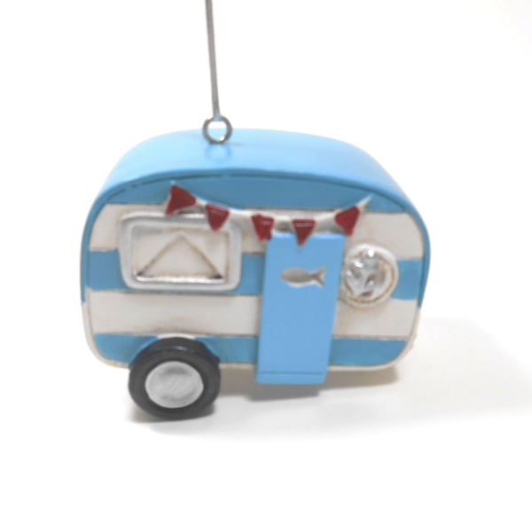 Midwest -CBK Blue and White Camper Trailer Ornament