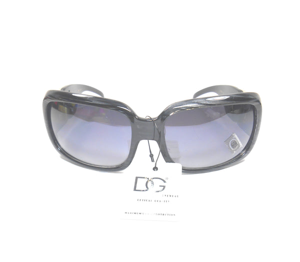 Womens DG Eyewear Fashion Sunglass Grey Stripes DUSK