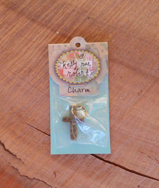 Kelly Rae Roberts Cross Charm