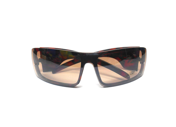 Womens DG Eyewear Fashion Sunglass Slimline Tortoise with Brown Lens