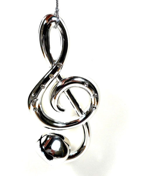 Silver Treble Clef Bell Ornament Music By Midwest-CBK