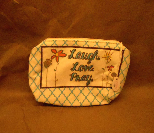 Heart Design Laugh Love Pray Makeup Case