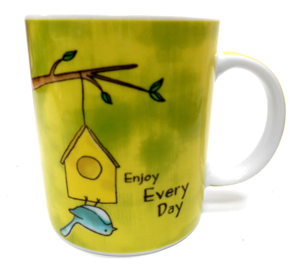 Ganz Enjoy Everyday Bird Porcelain 12 oz Coffee Cup