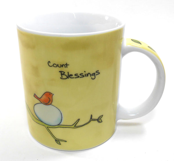 Ganz Count Blessings Bird Porcelain 12 oz Coffee Cup