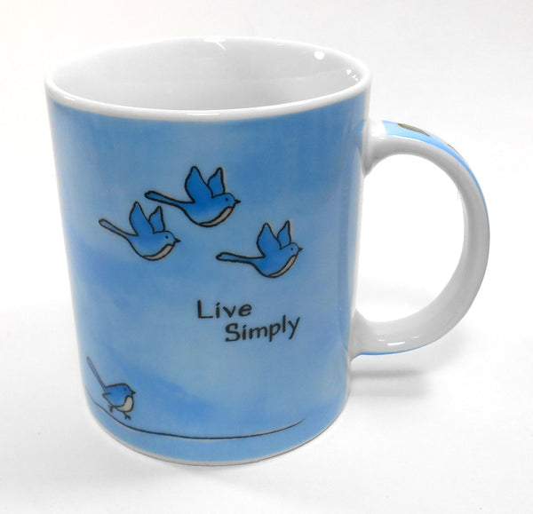 Ganz Live Simply Bird Porcelain 12 oz Coffee Cup