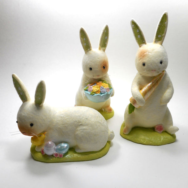 Felted Easter Bunny Figurines Set of 3 by Midwest-CBK