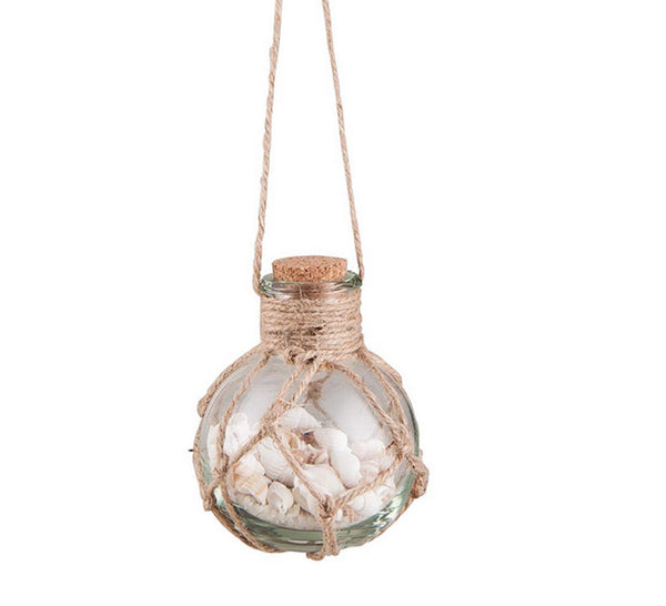 Gallarie II Beachside Float with Seashells Glass Ornament