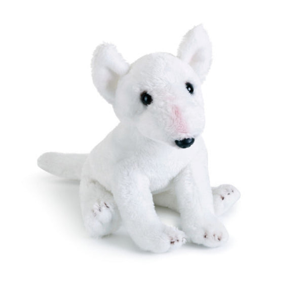 "Animal Craft Beanbag White Bull Terrier Dog Puppy Plush 5.5"" Tall"