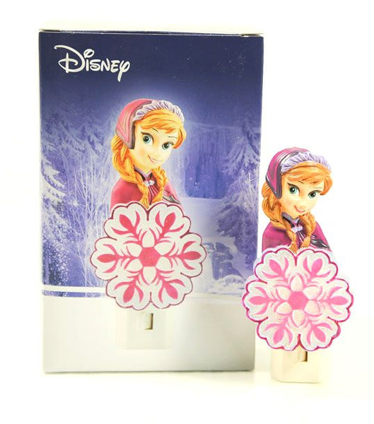 Disney Frozen Anna Pink Snowflake Night Light