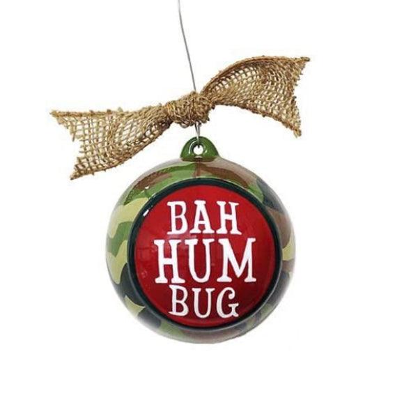 Bah Hum Bug Hunting Ornament Gift boxed