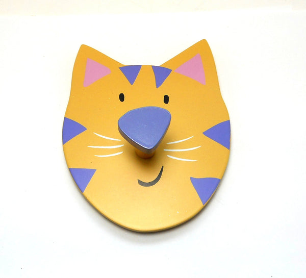 Yellow Tabby Cat Wall Hook