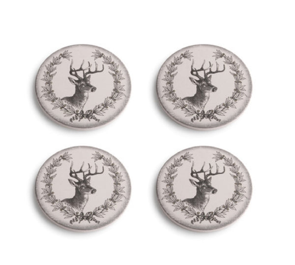 A Gilded Life Deer with Laurel Coasters Set of 4