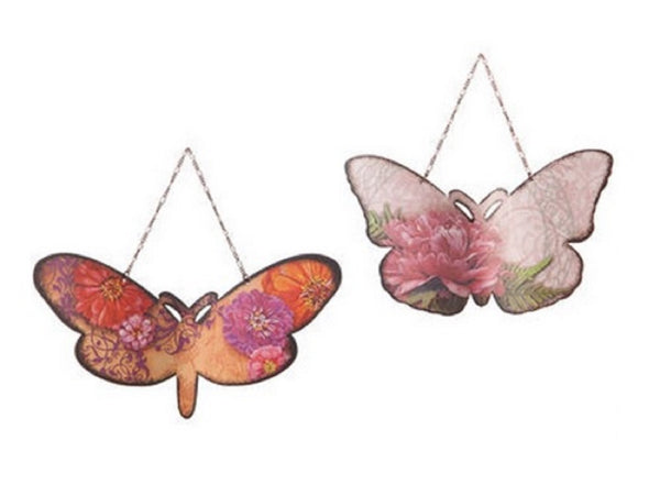 Silvestri Elizabeth Tipton Pink Butterfly Christmas Ornaments