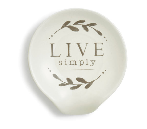 Live Simply Spoon Rest by Demdaco