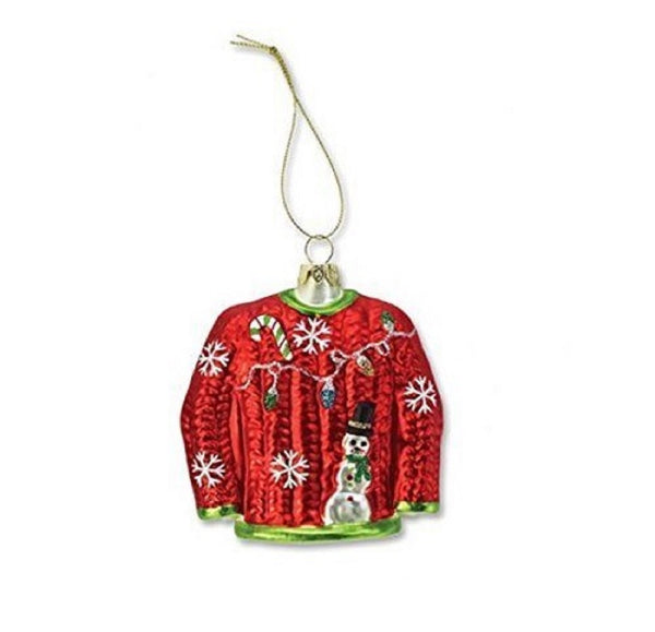 Silvestri Ugly Sweater Glass Ornament