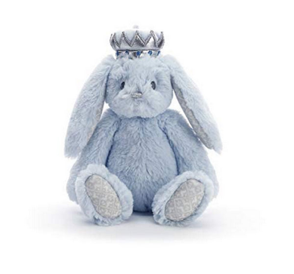 Nat and Jules Blue Bunny Plush with Crown