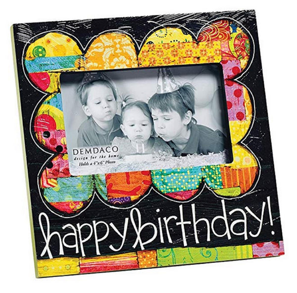 Demdaco Colorful Devotions Happy Birthday Frame 4 by 6-Inch