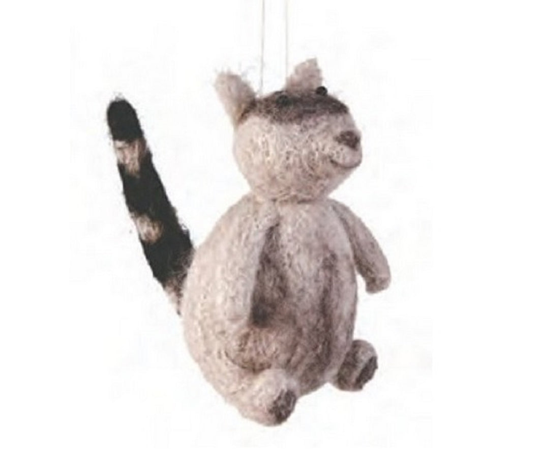 Wooly Raccoon Plush Ornament by Gallarie II