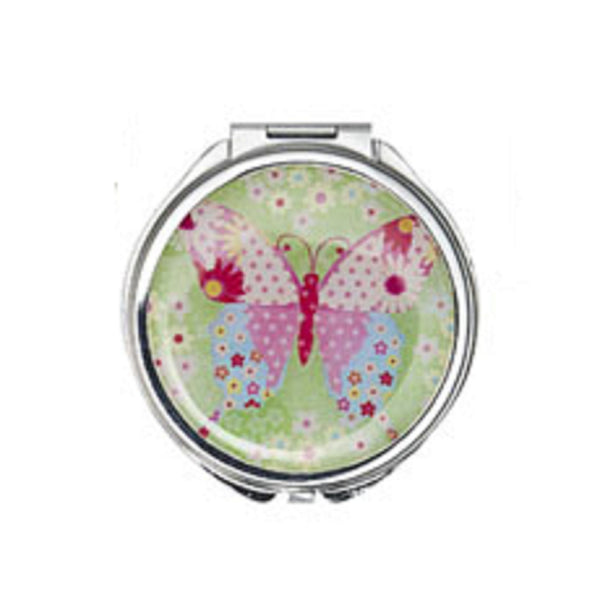 Ganz Green Butterfly Compact Mirror
