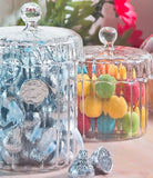 Ganz Clear Ribbed Candy Jar in White Gift Box 4 Inches high