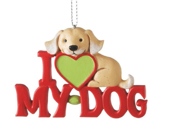 I Love My Dog Ornament by Midwest-CBK