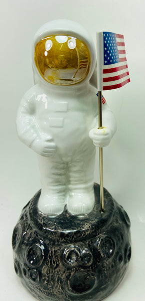 Vintage 1999 Spaceman Astronaut USA Ceramic Piggy Bank