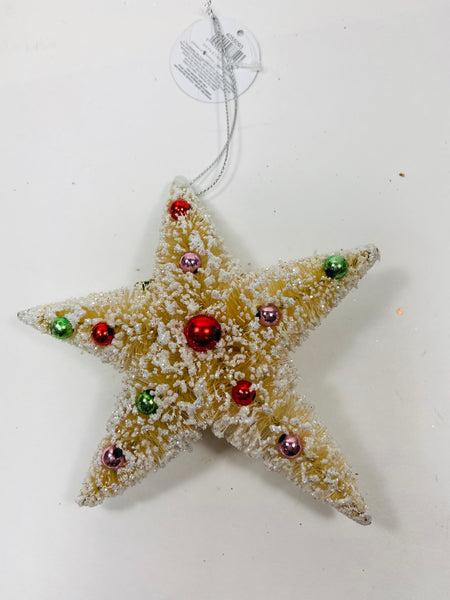 Dept 56 Sisal Decorated Star Ornament