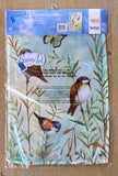 Breeze Art Bluebirds and Butterflies Premium Garden Flag 12.5 in by 18 inches
