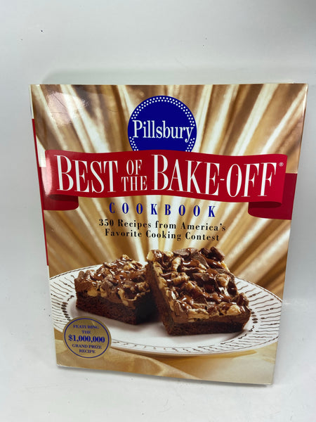 Pillsbury Best of the Bake Off Cookbook hardcover DJ