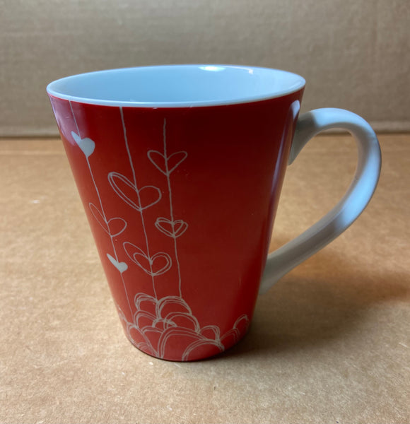 Starbucks Red Hearts Coffee Mug