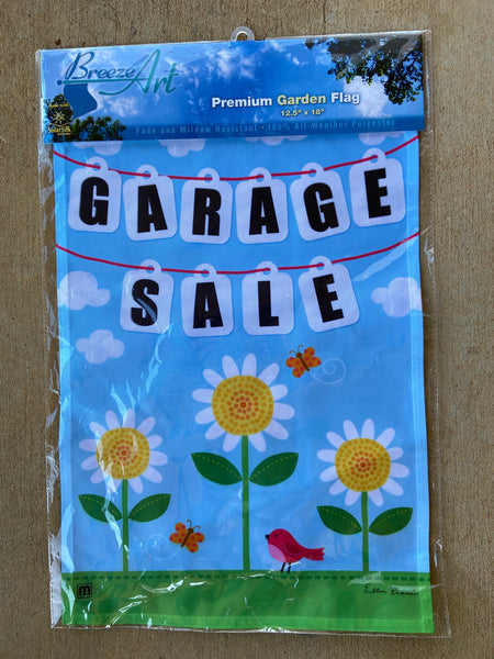 Breeze Art Garage Sale Premium Garden Flag 12.5 in by 18 inches